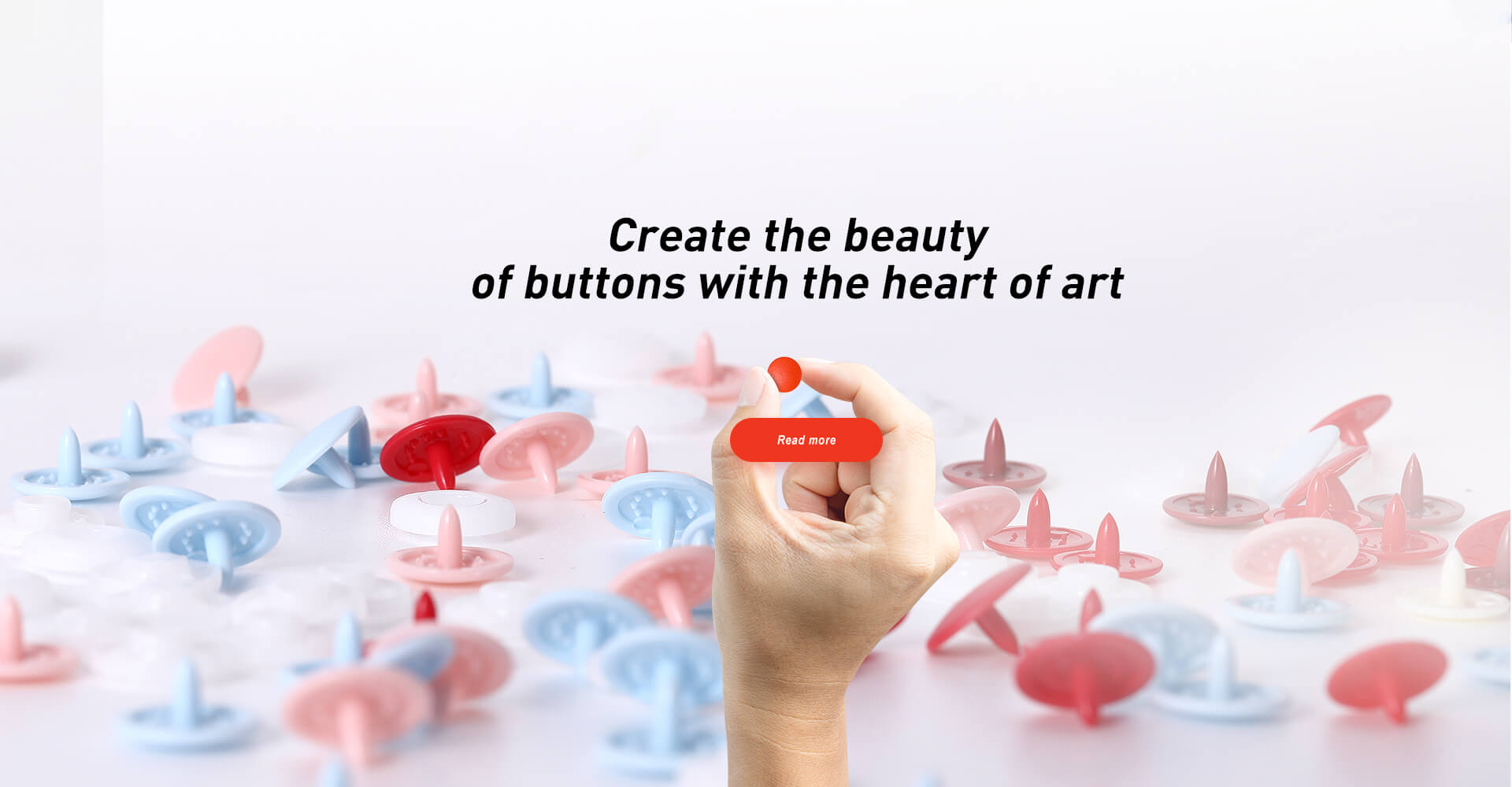 Create the beauty of buttons with the heart of art.